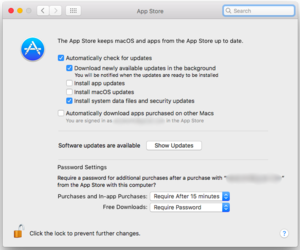 app store system preferences