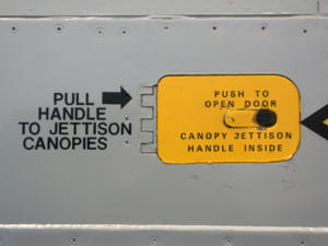 jettison canopy handle eject