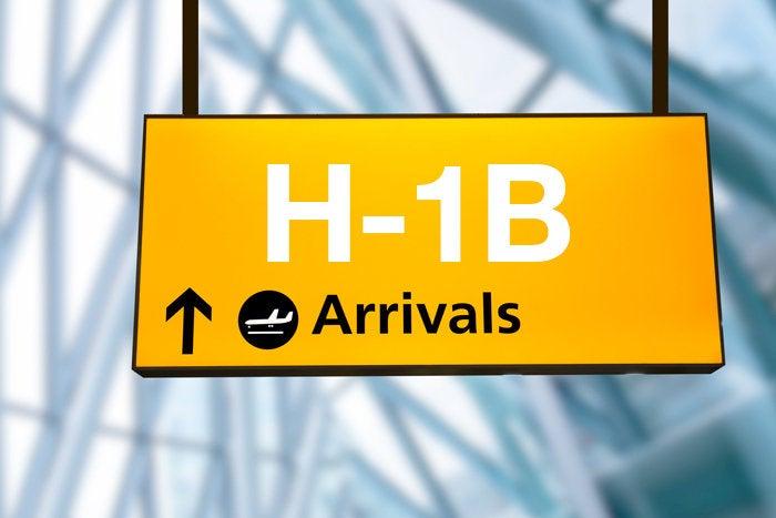 H-1B visa airport arrival