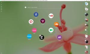 opera neon start page