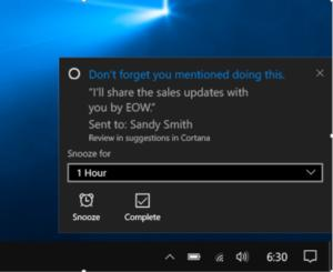 cortana suggested reminders large