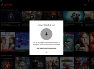 netflix offline downloads windows 10