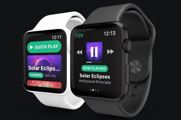 snowy spotify apple watch app
