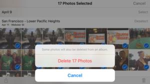 iphone photos how to bulk delete