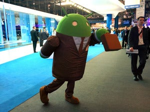 Android character at MWC 2014 Barcelona