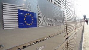 In front of the European Commission's Charlemagne building (2)